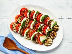 Charred Eggplant and Tomato Caprese Salad