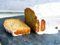 Zucchini Bread with Greek Yogurt Glaze
