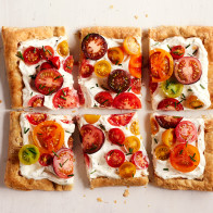 Puff Pastry Heirloom Tomato Tart