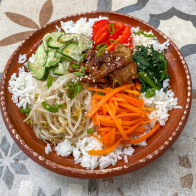 Bibimbap with Gochujang-Marinated Beef