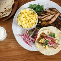 Encore: Pork Tenderloin Tacos with Pineapple and Quick-Pickled Red Onions