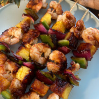 Spicy Pineapple-Glazed Shrimp Kebabs