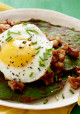 St. Patrick's Day Spinach Pancakes and Corned Beef Hash