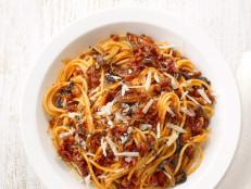 Spaghetti with Sausage Mushroom Sauce