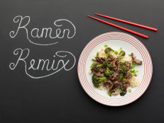 Beef with Broccoli Teriyaki and Ramen Noodles
