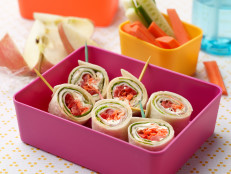 Ham and Scallion Cream Cheese Pinwheel Sandwiches