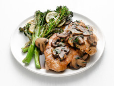 Turkey Marsala with Lemon Broccolini