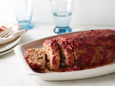 Turkey and Beef Meatloaf with Cranberry Glaze