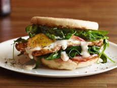 Hangover Easy Eggs Benedict Sandwich
