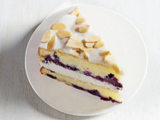Blueberry-Almond Cake with Lemon Curd
