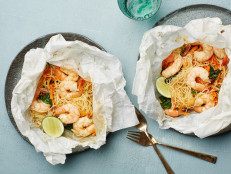 Lemongrass Coconut Shrimp and Noodles Parchment Packs