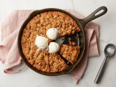 Chocolate Chocolate Chip Skillet Cookie