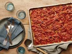 Sheet-Pan Glazed Meatloaf with Mashed Potatoes