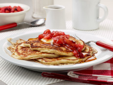 Buttermilk Pancakes with Apple Cranberry Compote
