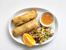 Chicken Egg Rolls with Broccoli Slaw