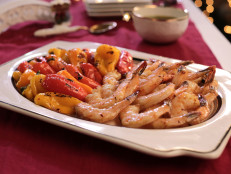 Roasted Shrimp and Peppers with Chimichurri