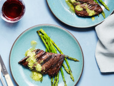 Grilled Skirt Steak with Pesto Butter in Under 20 Minutes