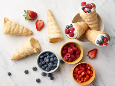 Puff Pastry Cones with Berries and Cream