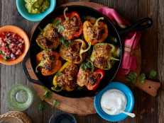 Healthy Chicken Fajita Stuffed Peppers