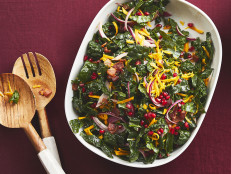 Kale and Butternut Squash Salad with Warm Bacon Vinaigrette