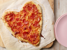 Heart-Shaped Pizza for Two