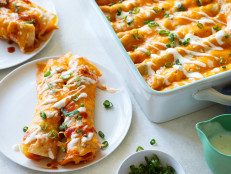 Buffalo Turkey Enchiladas