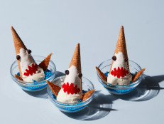 Shark Bite Ice Cream Sundaes
