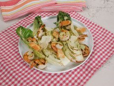 Grilled Romaine with Shrimp and Green Goddess Dressing
