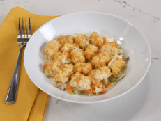 Chicken Pot Pie with a Tater Tot Crust