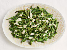 Blistered Green Beans with Tahini