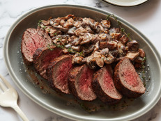 Roast Beef Tenderloin with Mushroom Ragout