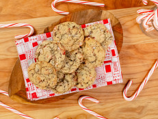 Dark Chocolate Chunk and Candy Cane Cookies