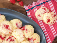 Coconut and Raspberry Swirl Cookies