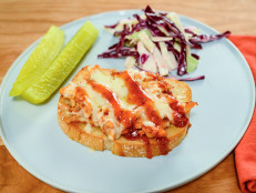 Open-Face BBQ Chicken Melts