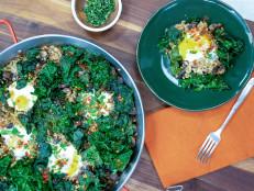 Mushroom and Kale Paella
