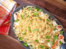 Spicy Lemon Spaghetti with Lobster and Toasted Breadcrumbs