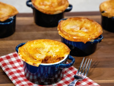 Smoky Cheddar, Chorizo and Sweet Potato Pot Pies
