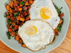 Sweet Potato and Kale Hash with Fried Eggs