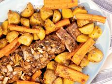 Sheet Pan Roasted Garlic-Balsamic Pork Tenderloin with Potatoes and Carrots