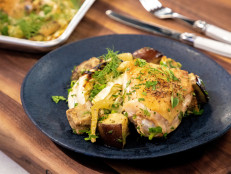 Keto Sheet Pan Chicken with Cabbage, Fennel and Eggplant