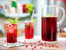 Pomegranate and Mint Cocktail