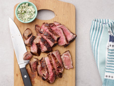 Air Fryer Steak with Garlic-Herb Butter