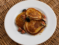 Lemon Ricotta Pancakes with Figs