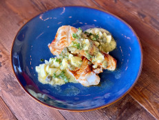 Grilled Halibut with Sauce Gribiche