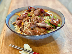 Vietnamese Grilled Pork and Rice Vermicelli Noodle Bowl