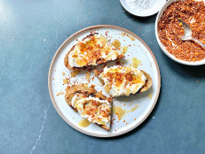 Ricotta Toasts with Walnut Dukkah, Olive Oil and Honey