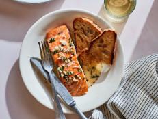Creamy Salmon Scampi