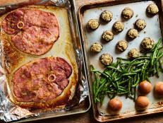 Sheet Pan Holiday Ham Dinner