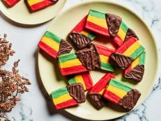 Slice-and-Bake Italian Rainbow Cookies
