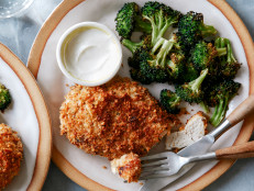 Healthy Air Fryer Parmesan Chicken with Broccoli